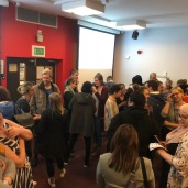 Woke Launch 11.10.18: After Dr Anne Loweth's Talk Everyone Mingled and Ate