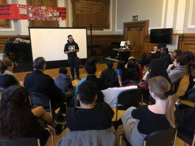 Image from GoldSmiths Anti-Racism Action Facebook page dated 4 April